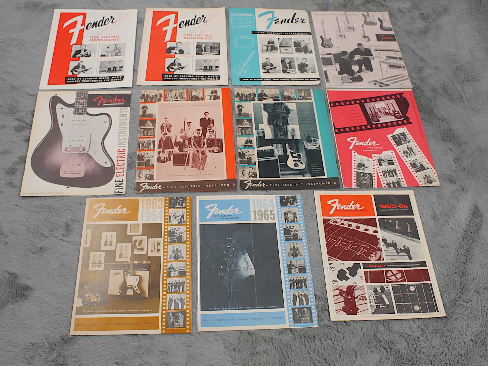 1955-66 Fender Short Order Catalogue Set