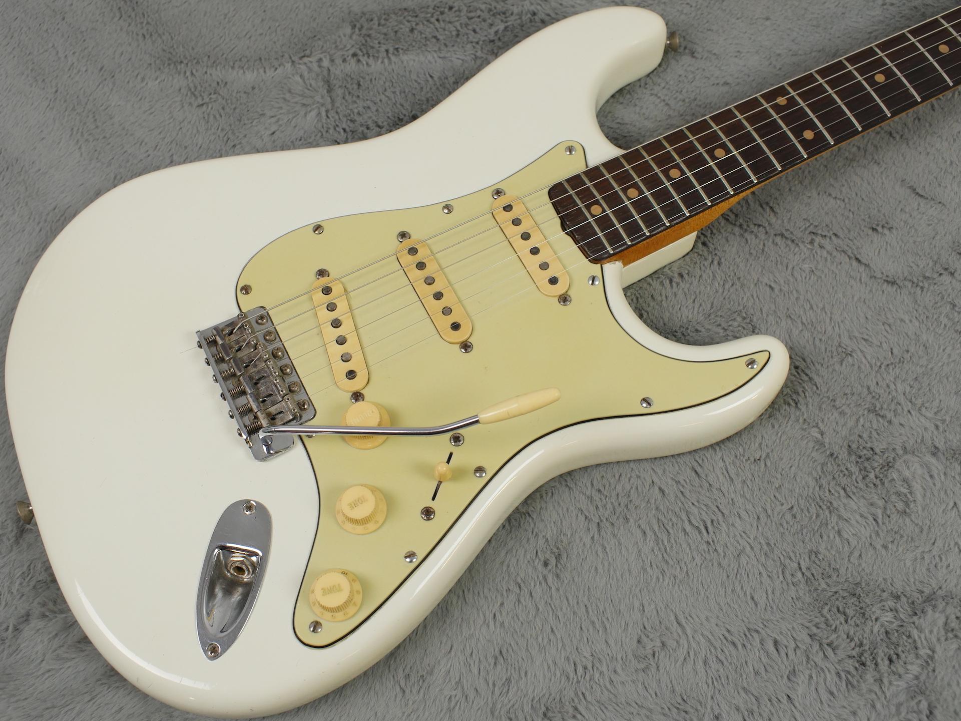 1962 Slab Board Fender Stratocaster Olympic White + OHSC