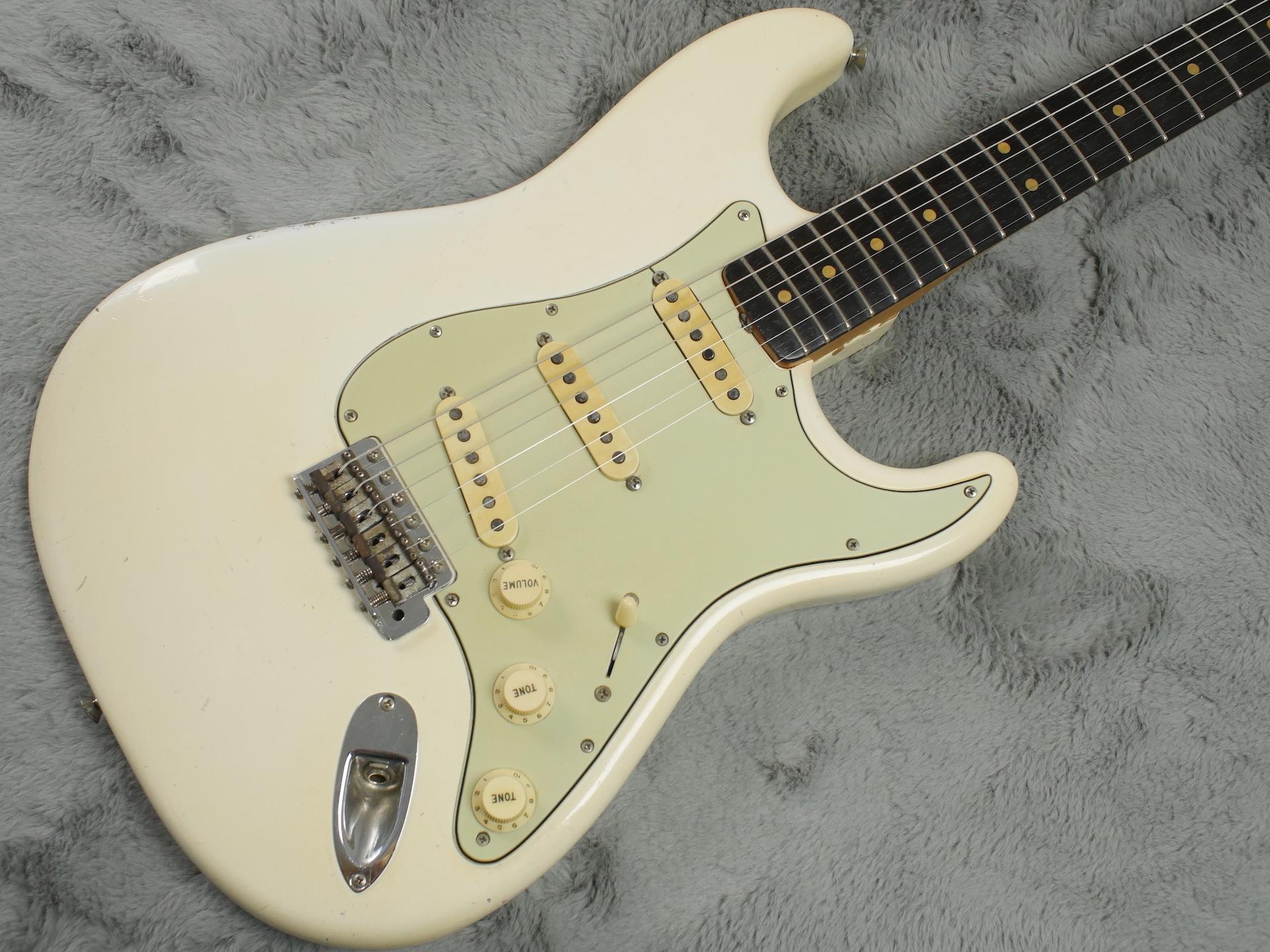 1964 Fender Stratocaster Olympic White body refin + HSC