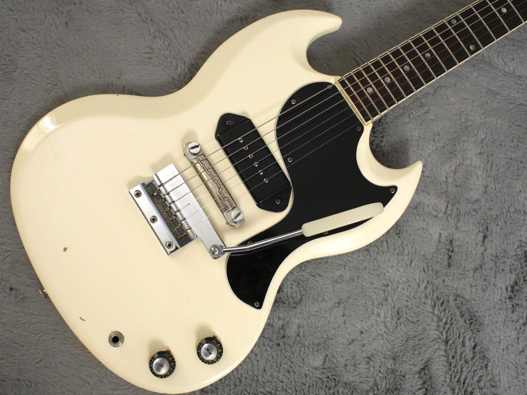 1965 Gibson SG Junior Polaris White + OHSC